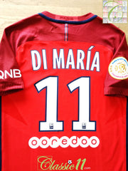 2016/17 PSG Away Ligue 1 Player Issue Football Shirt Di María #11 (S)