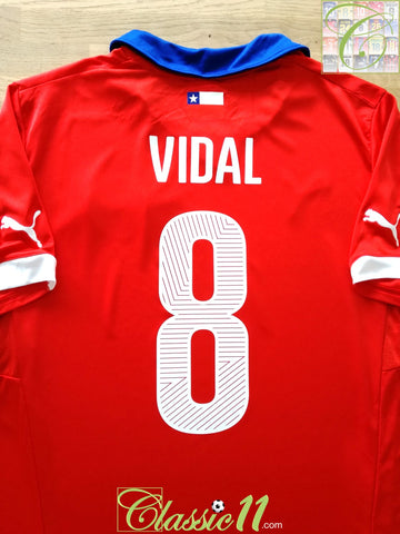 2014/15 Chile Home Football Shirt Vidal #8 (XL)