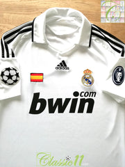 2008/09 Real Madrid Home Champions League Football Shirt (M)