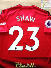 2018/19 Man Utd Home Premier League Football Shirt Shaw #23 (S)