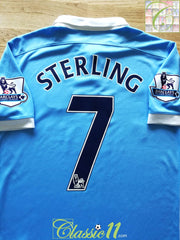 2015/16 Man City Home Premier League Football Shirt Sterling #7 (M)