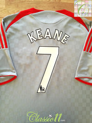 2008/09 Liverpool Away Premier League Football Shirt Keane #7 (XXL)