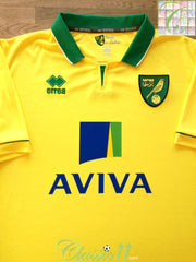 2012/13 Norwich City Home Football Shirt (XL)