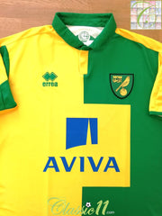 2015/16 Norwich City Home Football Shirt (L)