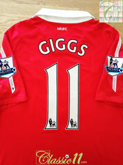 2010/11 Man Utd Home Premier League Football Shirt Giggs #11 (L)