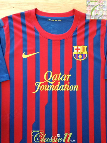 2011/12 Barcelona Home Player Issue Football Shirt (XXL)