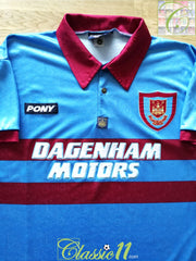 1995/96 West Ham Away Centenary Football Shirt (XXL)