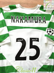 2005/06 Celtic Home Champions League Player Issue Football Shirt Nakamura #25 (XXL)