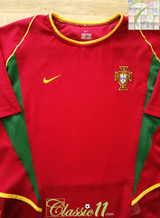 2002/03 Portugal Home Player Issue Football Shirt (M)