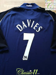 2002/03 Tottenham Away Premier League Football Shirt Davies #7 (3XL)