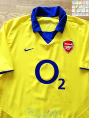 2003/04 Arsenal Away Football Shirt (XXL)