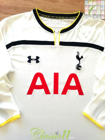 2014/15 Tottenham Home Football Shirt. (L) (Fitted)