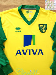 2013/14 Norwich City Home Football Shirt. (XXL)