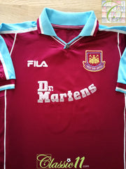 1999/00 West Ham Home Football Shirt (S)