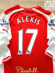 2014/15 Arsenal Home Premier League Football Shirt. Alexis #17 (M)