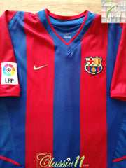 2002/03 Barcelona Home La Liga Player Issue Football Shirt (XL)
