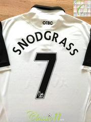 2013/14 Norwich City Away Premier League Football Shirt Snodgrass #7 (XXL)