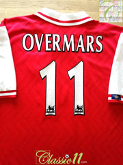 1997/98 Arsenal Home Premier League Football Shirt Overmars #11 (XL)