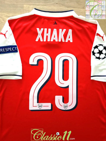2016/17 Arsenal Home Champions League Football Shirt Xhaka #26 (L) *BNWT*