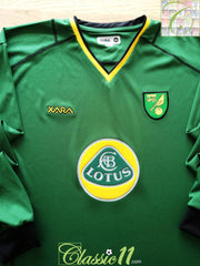 2002/03 Norwich City Away Football Shirt. (XL)