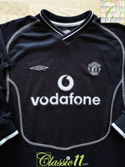 2000/01 Man Utd Goalkeeper Football Shirt. (B)