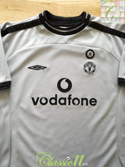 2001/02 Man Utd Goalkeeper Centenary Football Shirt. (B)