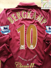 2005/06 Arsenal Home Premier League Football Shirt. Bergkamp #10 (M)