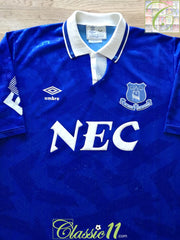 1991/92 Everton Home Football Shirt (L)