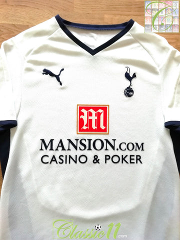 2008/09 Tottenham Home Football Shirt (L)