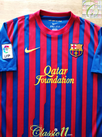 2011/12 Barcelona Home La Liga Football Shirt (L)