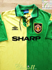 1992/93 Man Utd 3rd Football Shirt (S)