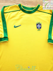 1998/99 Brazil Home Football Shirt (L)