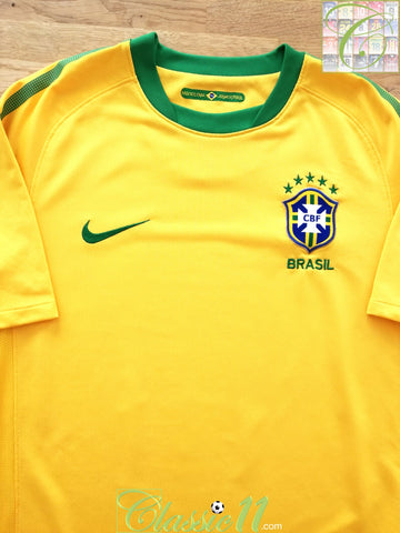 2010/11 Brazil Home Football Shirt (M)