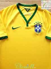 2014/15 Brazil Home Football Shirt (S)