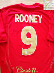 2006/07 England Away Football Shirt Rooney #9 (S)