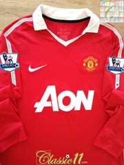 2010/11 Man Utd Home Premier League Football Shirt. (M)