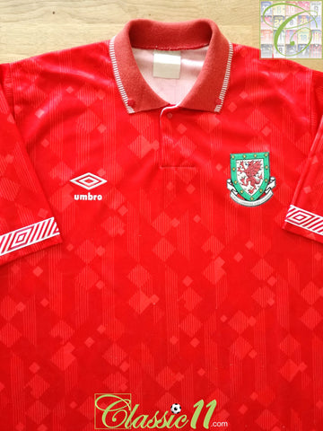 1990/91 Wales Home Football Shirt (L)