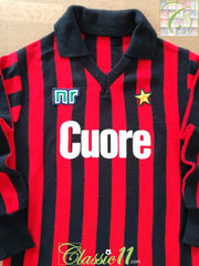 1983/84 AC Milan Home Football Shirt. (XS)