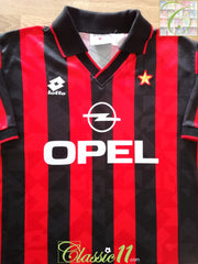 1994/95 AC Milan Home Football Shirt (XL)