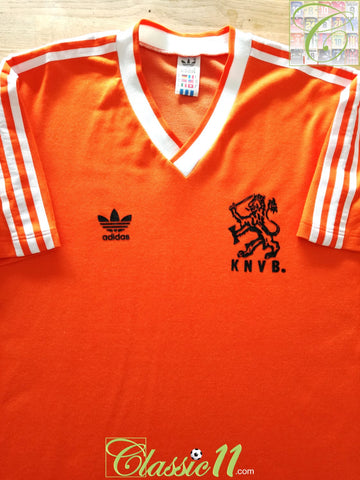 1985/86 Netherlands Home Football Shirt (M)