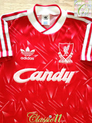 1989/90 Liverpool Home Football Shirt (B)
