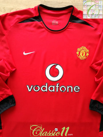 2002/03 Man Utd Home Football Shirt. (XXL)