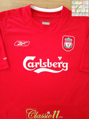 2004/05 Liverpool Home Football Shirt (L)