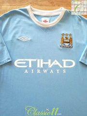 2009/10 Man City Home Football Shirt (M)