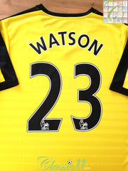 2015/16 Watford Home Premier League Football Shirt Watson #23 (L)
