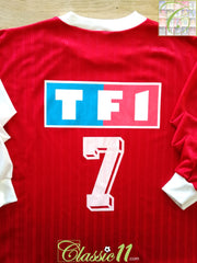 1996/97 Monaco Home Coupe de France Football Shirt. (Collins) #7 (XL)