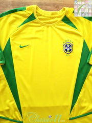 2002/03 Brazil Home Football Shirt, (L)
