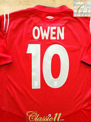 2004/05 England Away Football Shirt Owen #10 (L)