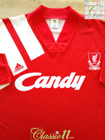 1991/92 Liverpool Home Football Shirt (L)