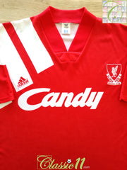 1991/92 Liverpool Home Football Shirt (XL)